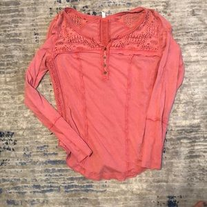 Free people long sleeve shirt. Large.